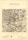Bewdley. JAMES. PARLIAMENTARY BOUNDARY COMMISSION 1868 old antique map chart